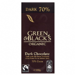 Green & Blacks Organic 70% Dark Chocolate Bar 100g